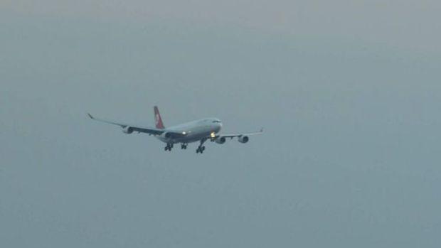 THY uçağı hava muhalefeti nedeniyle Rusya'ya indi