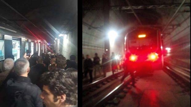 Marmaray'da vagon raydan çıktı, seferler durdu