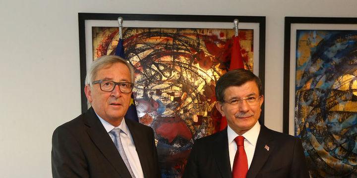 Davutoğlu ile Juncker