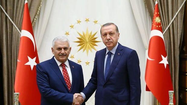 Binali Yıldırım Cumhurbaşkanı Erdoğan ile görüştü