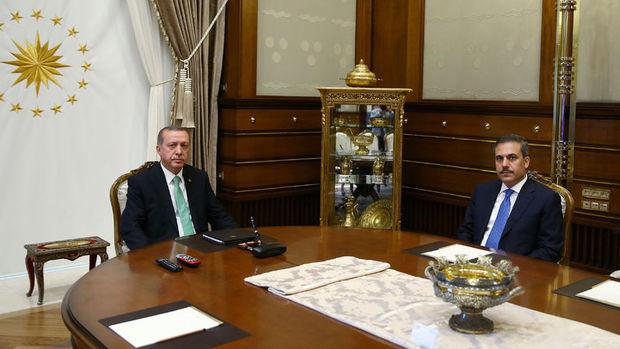 Cumhurbaşkanı Erdoğan Hakan Fidan'la görüşecek