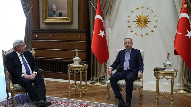Erdoğan BNP Paribas YK Başkanı Lemierre'i kabul etti