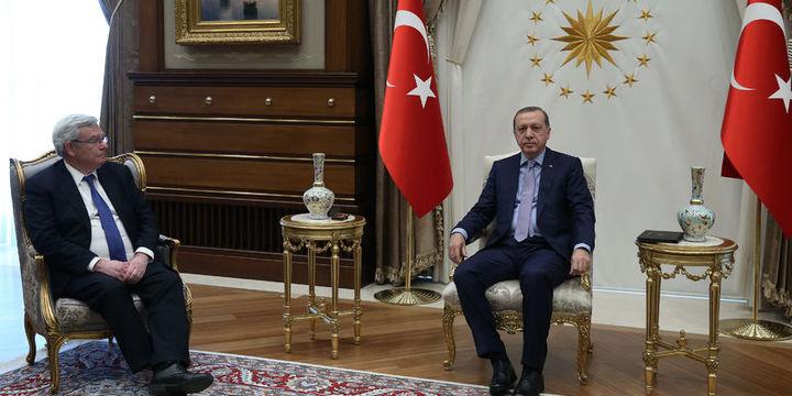Erdoğan BNP Paribas YK Başkanı Lemierre