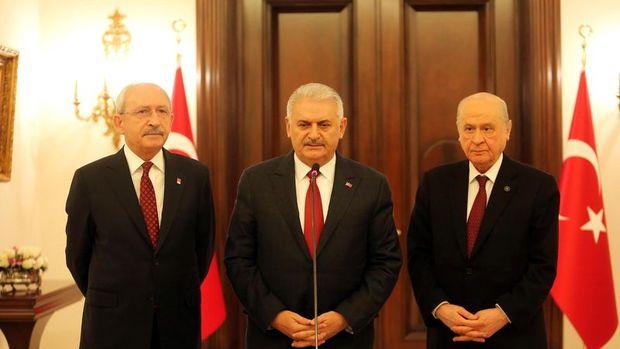 Yıldırım, Kılıçdaroğlu ve Bahçeli ortak açıklama yaptı