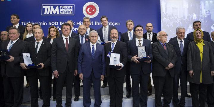 """""""Türkiye'nin 500 Büyük Hizmet İhracatçısı"""" ödülleri sahiplerini buldu"""