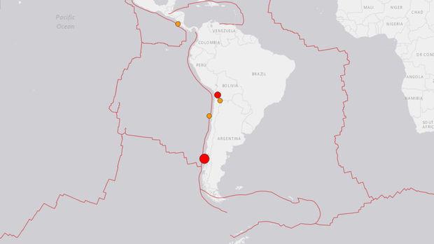 Şili'de 7,6 büyüklüğünde deprem meydana geldi
