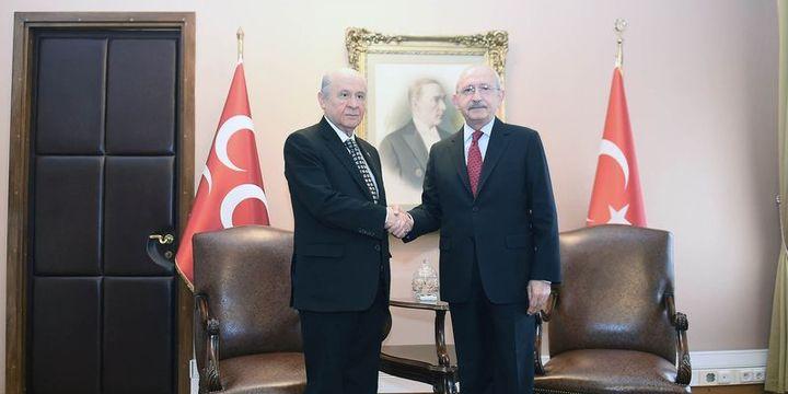 Kılıçdaroğlu-Bahçeli görüştü