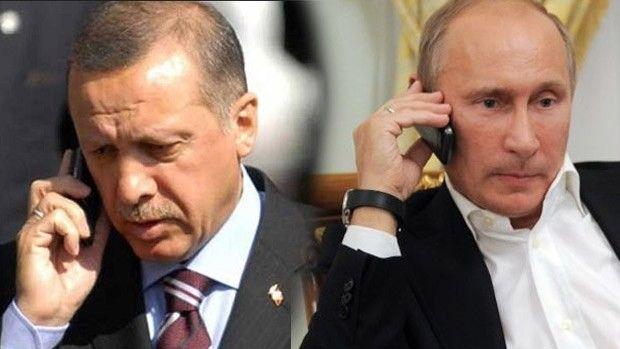 Erdoğan ve Putin Suriye hakkında görüştü