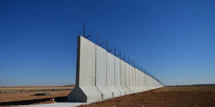 """Suriye sınırındaki """"güvenlik duvarı""""nın % 50"""