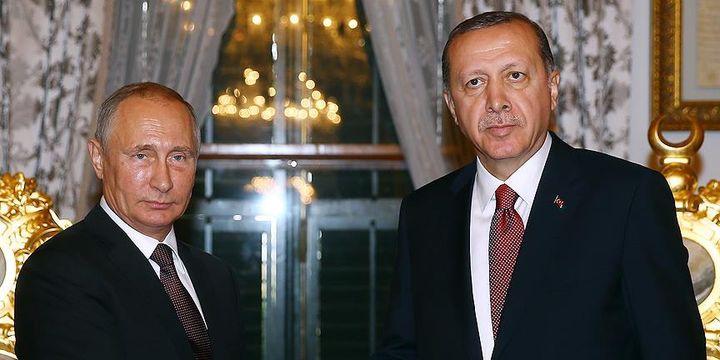 Cumhurbaşkanı Erdoğan ile Vladimir Putin görüştü