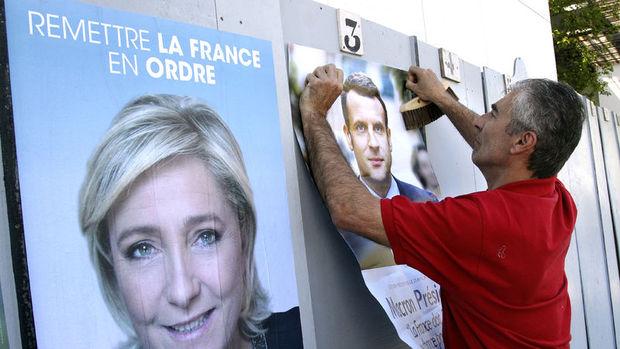 Fransa'da Le Pen ve Macron ipi göğüsleyebilir