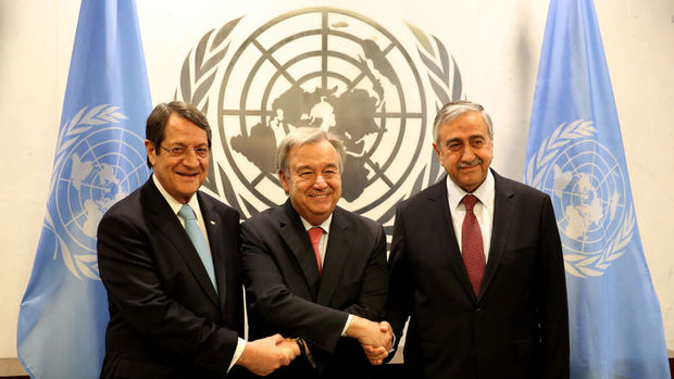 Guterres, Akıncı ve Anastasiadis ile New York'ta görüştü