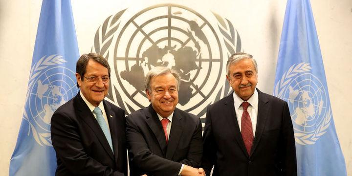 Guterres, Akıncı ve Anastasiadis ile New York