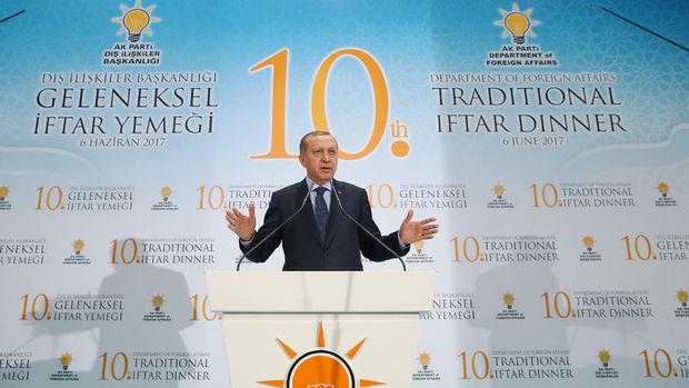 Erdoğan: Katar'a yaptırımları doğru bulmuyoruz