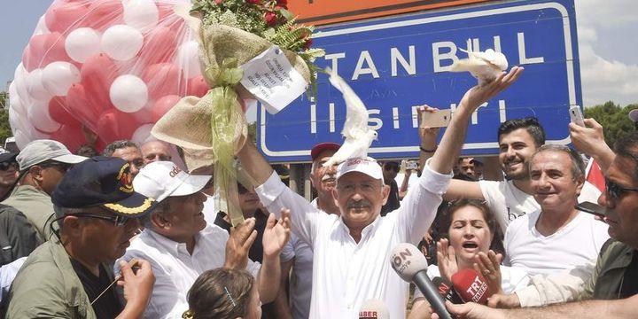 Kılıçdaroğlu yürüyüşünün 23. gününde İstanbul
