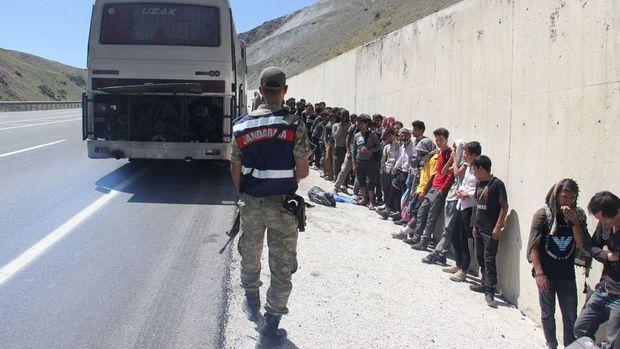 Erzincan ve Ağrı'da 223 kaçak göçmen yakalandı