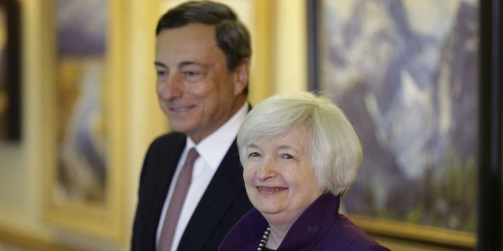 Yellen ve Draghi Jackson Hole