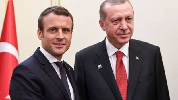 Erdoğan Macron ile Suriye ve Irak'ı görüştü