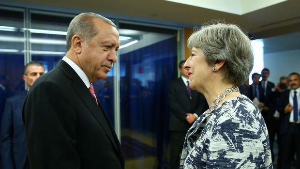 Erdoğan Birleşik Krallık Başbakanı May ile telefonda görüştü
