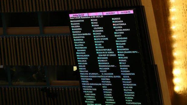 ABD'nin Kudüs kararını geri almasını öngören tasarı BM'de kabul edildi