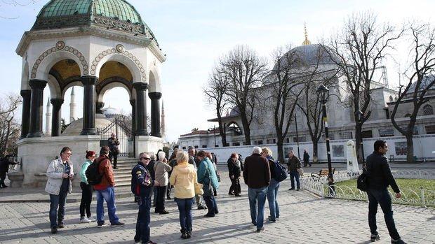 Türkiye'ye gelen yabancı turist sayısı Aralık'ta yüzde 27.8 arttı
