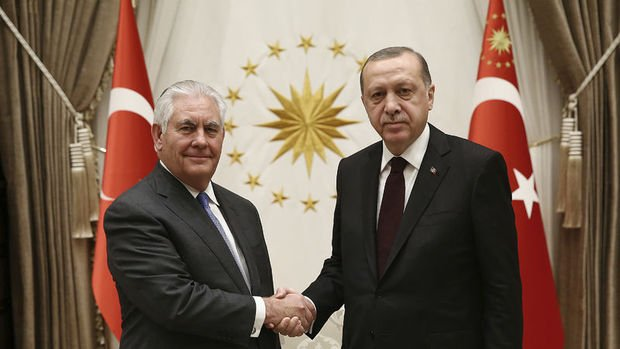 Cumhurbaşkanı Erdoğan Tillerson'ı kabul etti