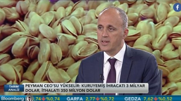 Peyman CEO'su Yükselir: Türkiye'nin kuruyemiş ihracatı 3 milyar dolar