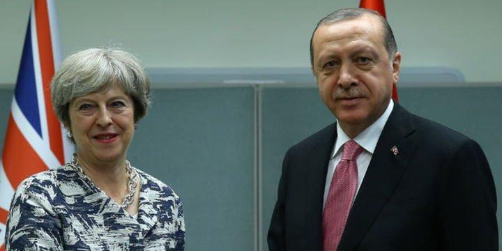 Cumhurbaşkanı Erdoğan May ile görüştü