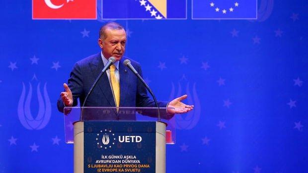 Erdoğan: Avrupa'da yaşayan Türklerin askerliği için çalışma yürütüyoruz