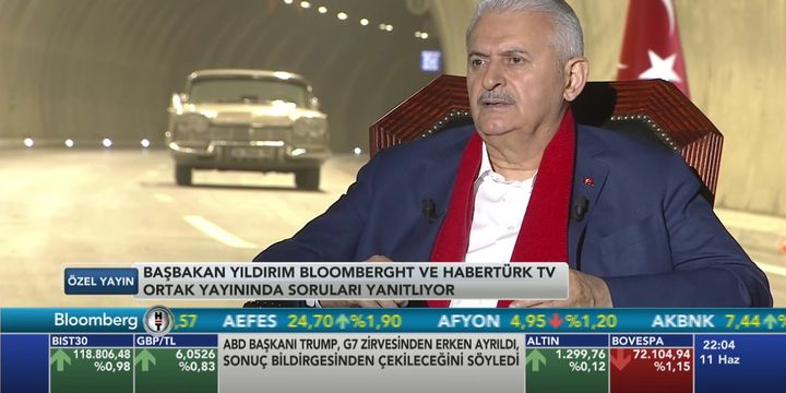 Başbakan Yıldırım Habertürk TV ve Bloomberg HT yayınında soruları yanıtladı