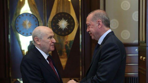 Erdoğan'ın Bahçeli'yi kabulü sona erdi
