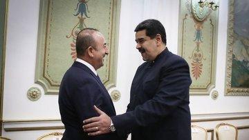 Çavuşoğlu Venezuela Devlet Başkanı Maduro ile görüştü