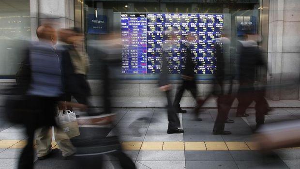 Asya borsaları haftanın ilk işlem gününde karışık seyretti
