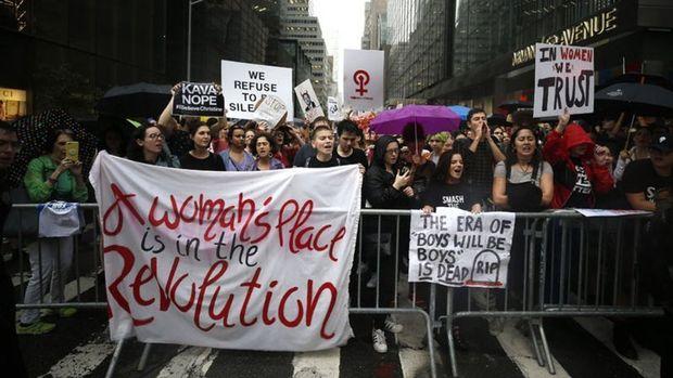 Trump'ın Kavanaugh kararına Washington ve New York'ta protesto