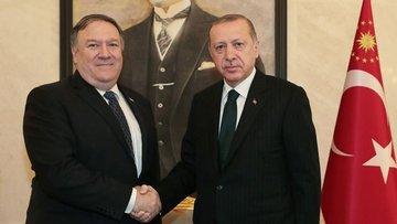 Cumhurbaşkanı Erdoğan ABD Dışişleri Bakanı Pompeo ile gör...