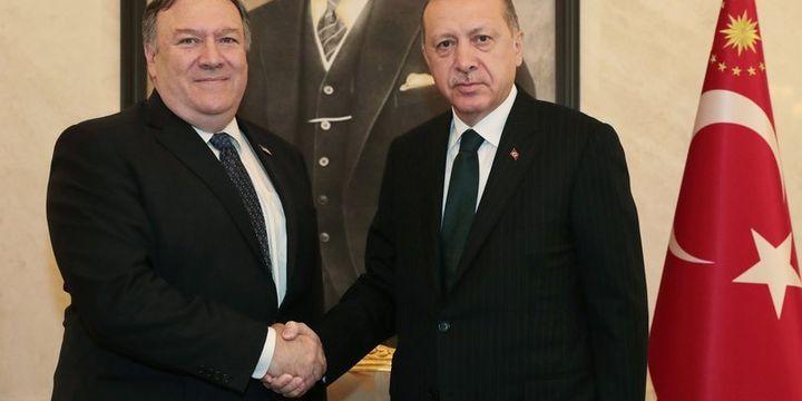 Cumhurbaşkanı Erdoğan ABD Dışişleri Bakanı Pompeo ile görüştü