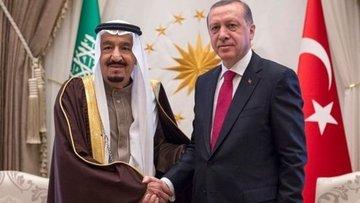 Cumhurbaşkanı Erdoğan Suudi Arabistan Kralı Selman ile gö...