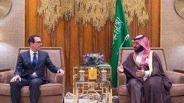 ABD Hazine Bakanı Mnuchin Veliaht Prens Selman ile görüştü