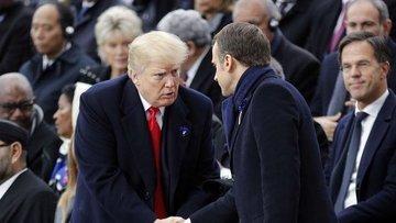 Macron Trump'ın eleştirilerine yanıt verdi