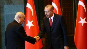 Erdoğan ile Bahçeli'nin kritik görüşmesi başladı