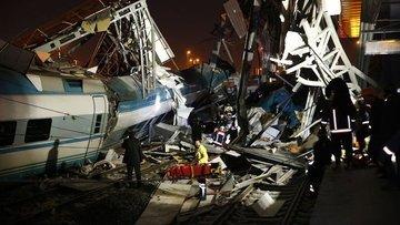 Ankara'daki Yüksek Hızlı Tren kazasında 4 kişi hayatını k...