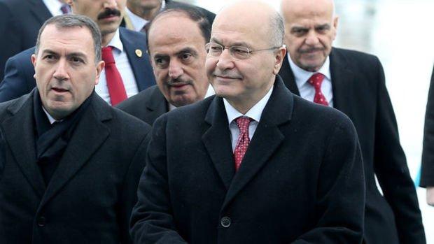 Irak Cumhurbaşkanı Berhem Salih, Ankara'ya geldi