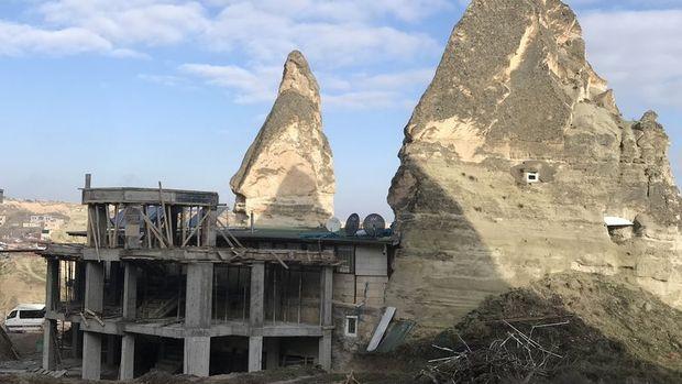 Göreme'deki otel inşaatı durduruldu