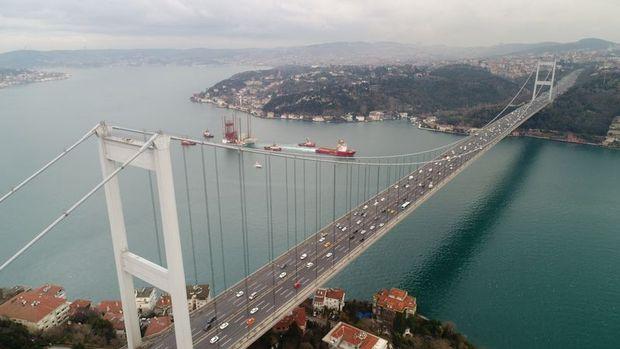 Köprü ve otoyollardan Ocak'ta 154 milyon gelir elde edildi