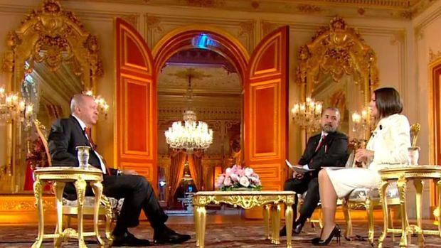 Cumhurbaşkanı Erdoğan, Bloomberg HT, Habertürk TV ve Show TV ortak yayınında soruları yanıtladı