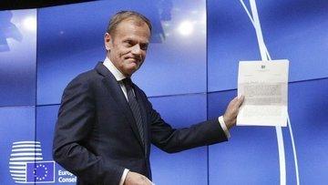 AB/Tusk: Brexit'te şarta bağlı kısa bir erteleme olabilir