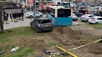 Beyazıt'ta özel halk otobüsü kaza yaptı: Yaralılar var