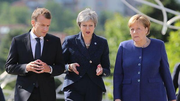 May, Macron ve Merkel ile görüşecek