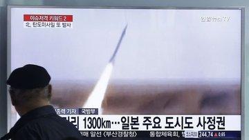 """Kuzey Kore """"taktik güdümlü silah sistemi"""" denediğini açık..."""
