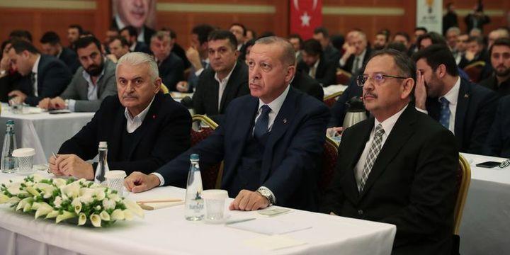 Cumhurbaşkanı Erdoğan, Yıldırım ve Özhaseki ile görüştü